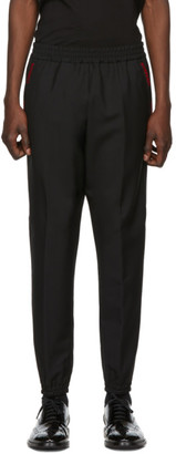 Burberry Black Runway Block Jogger Lounge Pants