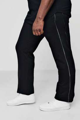 boohoo Big And Tall Multi Zip Detail Joggers