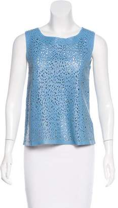 Drome Laser-Cut Leather Top w/ Tags
