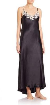 La Perla Women's Maison Silk Long Gown - Black - Size S
