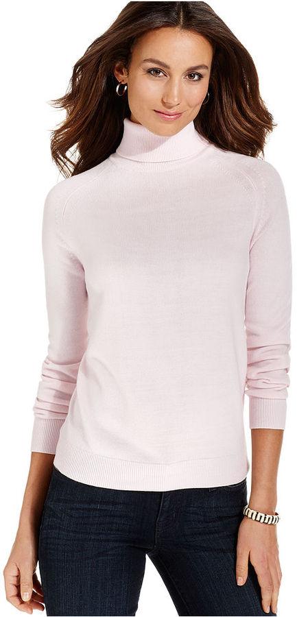 Debbie Morgan Long-Sleeve Turtleneck Sweater