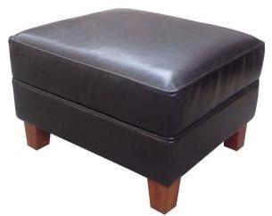 Home Decorators Collection Brexley Leather Club Chair Ottoman in Espresso