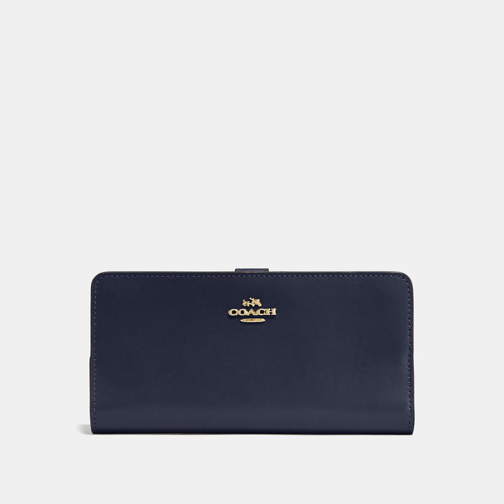 Coach   COACH Coach Skinny Wallet In Refined Calf Leather
