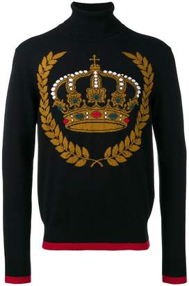 Dolce & Gabbana crown rollneck jumper