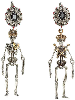 Alexander McQueen Embellished Skeleton Earrings