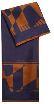 BOSS Hugo Italian-made square scarf in silk collection print One Size Patterned