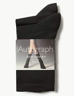 Autograph 2 Pair Pack Body SensorTM Soft Ankle High Socks