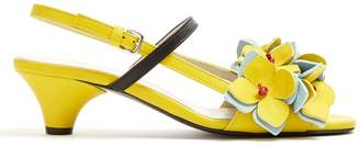 Marni Floral-embellished leather sandals