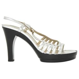 Charles Jourdan Silver Leather Sandals