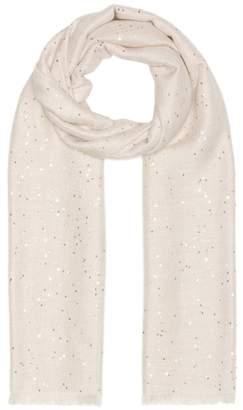 Brunello Cucinelli Sequined silk and cashmere scarf