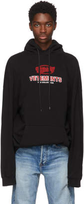 Vetements Black Graphic Logo Oversized Hoodie