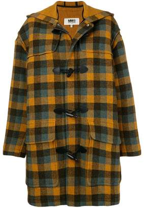 MM6 MAISON MARGIELA hooded duffle coat