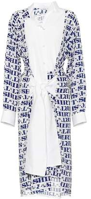 Loewe Asymmetric printed shirt dress
