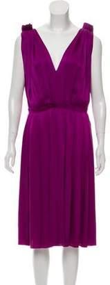 Lanvin Silk Pleated Dress