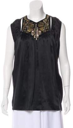 Givenchy Embellished Silk Top