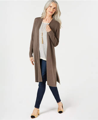 Charter Club Solid Pure Cashmere Maxi Duster, Created for Macy's