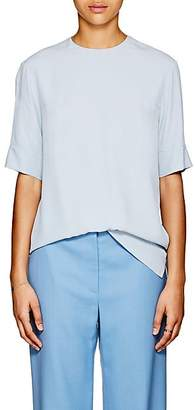 Derek Lam Women's Silk Crêpe De Chine Blouse - Pale Blue