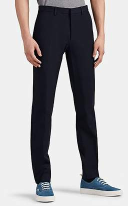 Theory Men's Zaine Stretch-Cotton Flat-Front Trousers - Dk. Blue