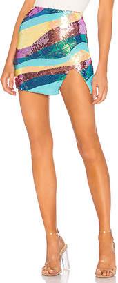 h:ours Blu Mini Skirt
