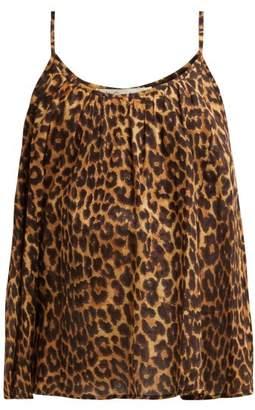 Mes Demoiselles Fauve Leopard Print Cotton Cami Top - Womens - Leopard