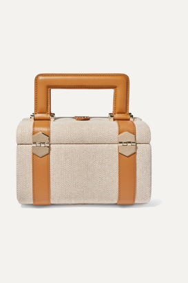 Paravel Valise Leather-trimmed Cotton-canvas Tote - Tan