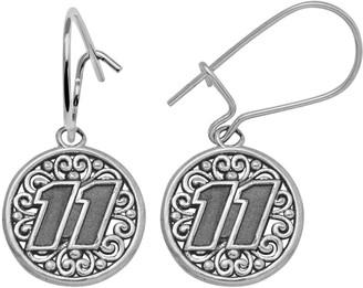 "Insignia Collection NASCAR Denny Hamlin Sterling Silver ""11"" Drop Earrings"