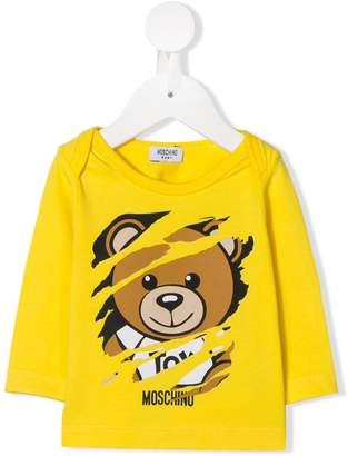 Moschino Kids teddy bear printed top