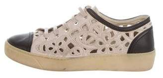 Chanel Cap-Toe Cut-Out Sneakers