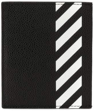 Off-White diagonal stripe cardholder