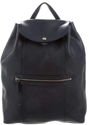 Longchamp Leather Drawstring Backpack