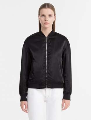 Calvin Klein padded nylon bomber jacket