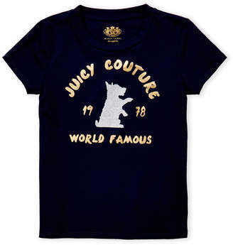 Juicy Couture Girls 7-16) Navy World Famous Logo Tee