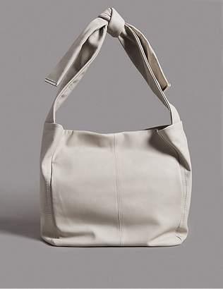 Marks and Spencer Leather Knot Handle Messenger Bag