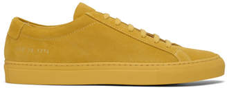 Common Projects Yellow Suede Original Achilles Low Sneakers