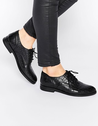 Bronx Leather Lace Up Flat Shoes $73 thestylecure.com
