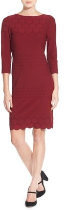 Women's Julia Jordan Eyelet Sheath Dress $148 thestylecure.com