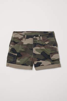 H&M Short Cargo Shorts - Green