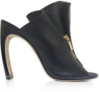 Nicholas Kirkwood Black Nappa 105mm Kristen High Heel Mules