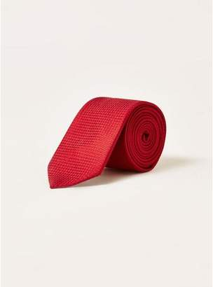 Topman Mens Red Textured Tie
