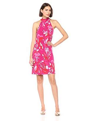 Trina Turk Trina Women's Craving Mock Neck Halter Dress