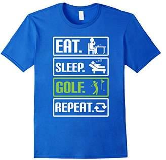Mens Golf T Shirt Eat Sleep Golf Repeat Golfing Gifts 2XL