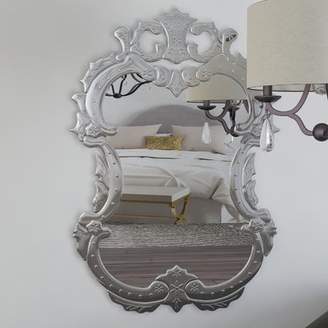 Willa Arlo Interiors Etched Floral Vertical Wall Mirror