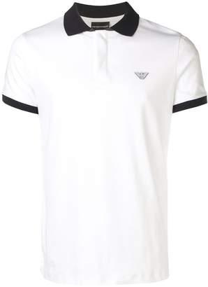 Emporio Armani contrast collar polo shirt