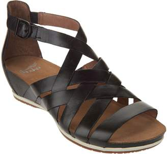 Dansko Leather Multi-strap Wedge Sandals - Vivian