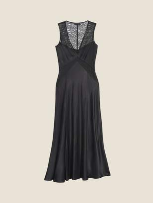 Donna Karan Donnakaran Lace Inset Long Dress