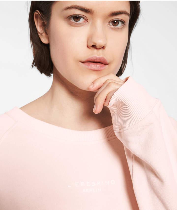 Sweatshirt mit Logoprint, Pink, Größe M