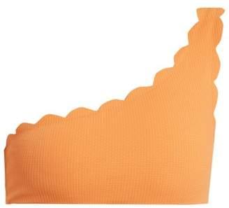 Marysia Swim Santa Barbara Scallop Edged Bikini Top - Womens - Orange
