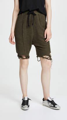 Twenty Tees Destroyed Hem Sweat Shorts