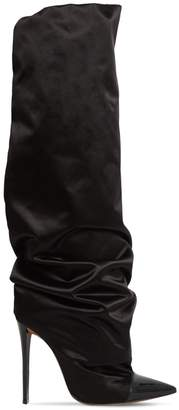 Alexandre Vauthier 105MM SASHA OVER-THE-KNEE SATIN BOOTS