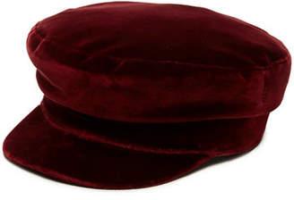 Janessa Leone Mattie Velvet Newsboy Hat